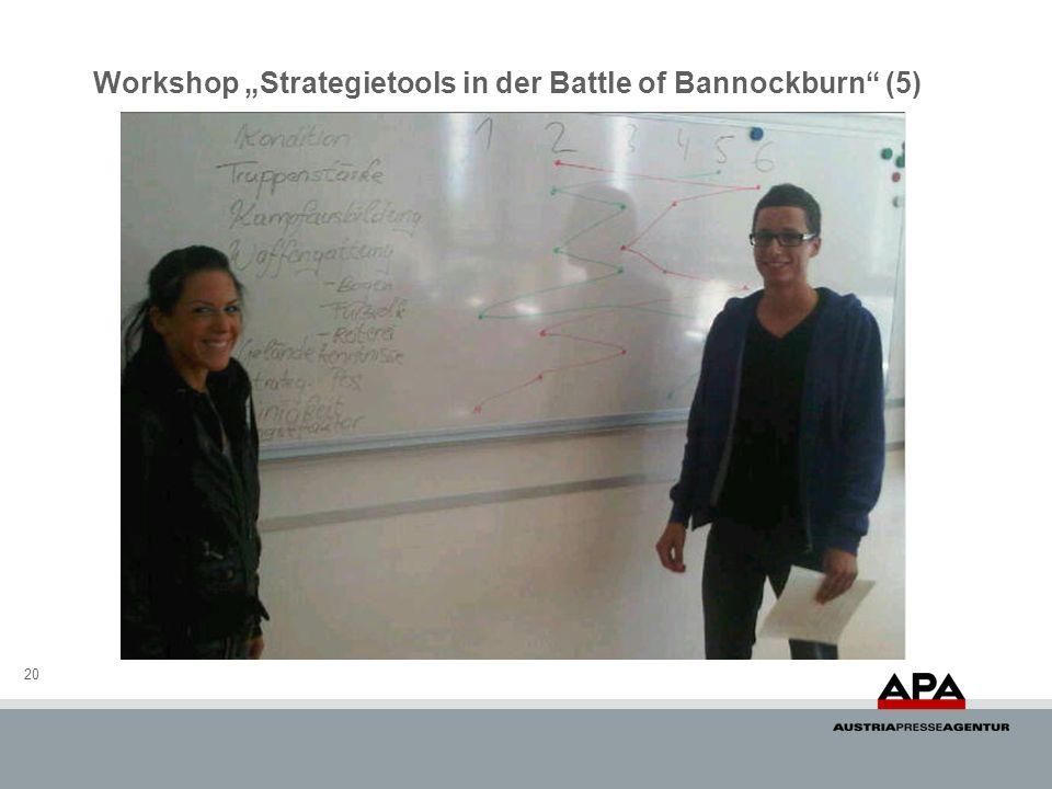 20 Workshop Strategietools in der Battle of Bannockburn (5)