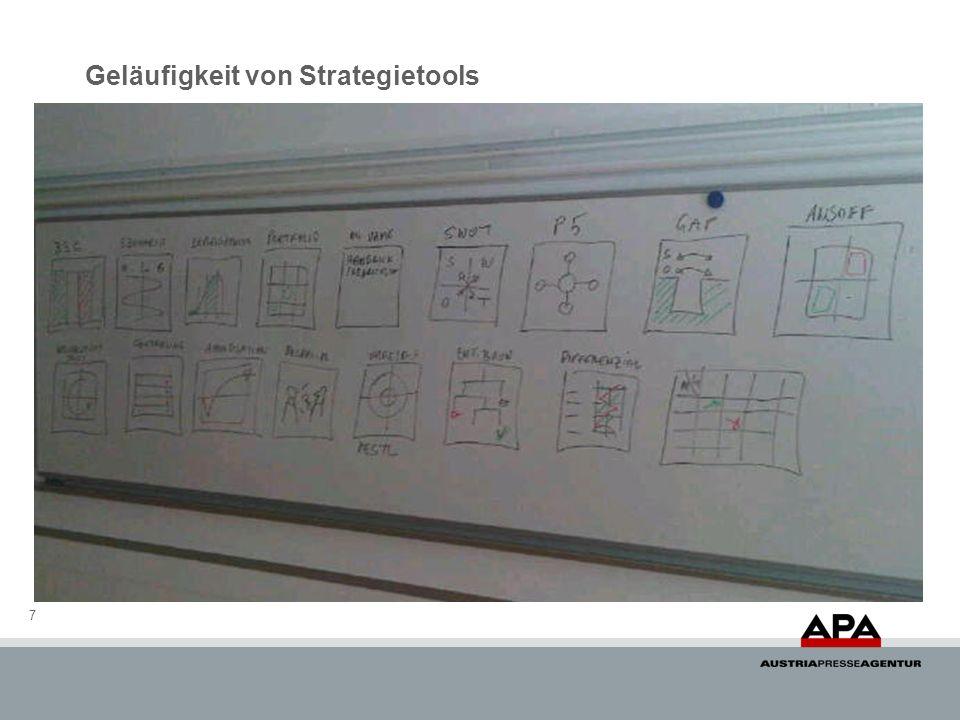Geläufigkeit von Strategietools 7