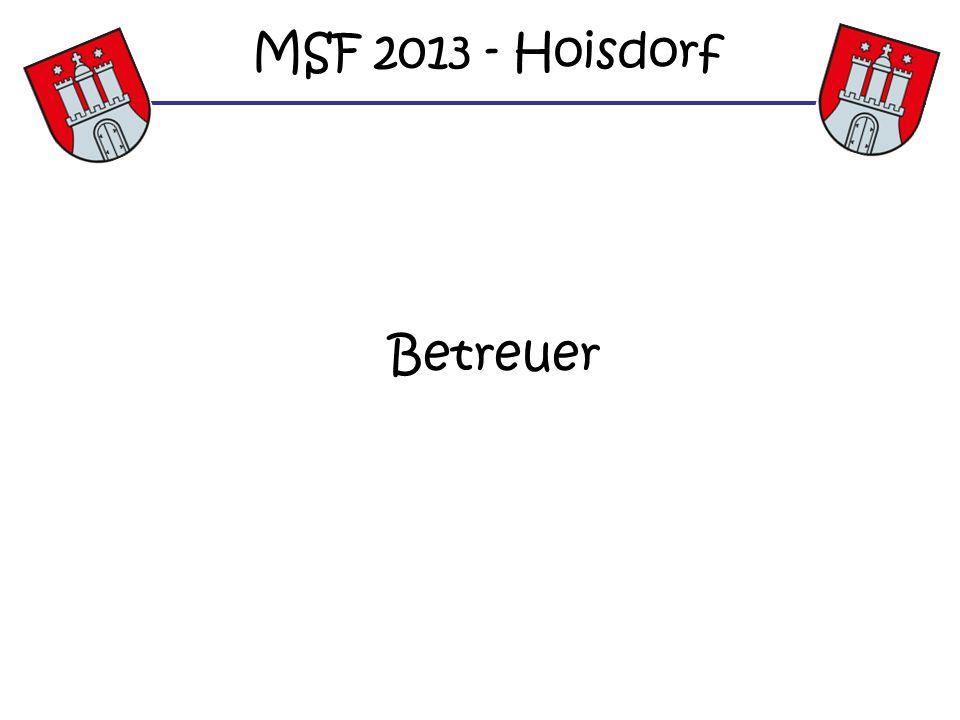Betreuer MSF 2013 - Hoisdorf