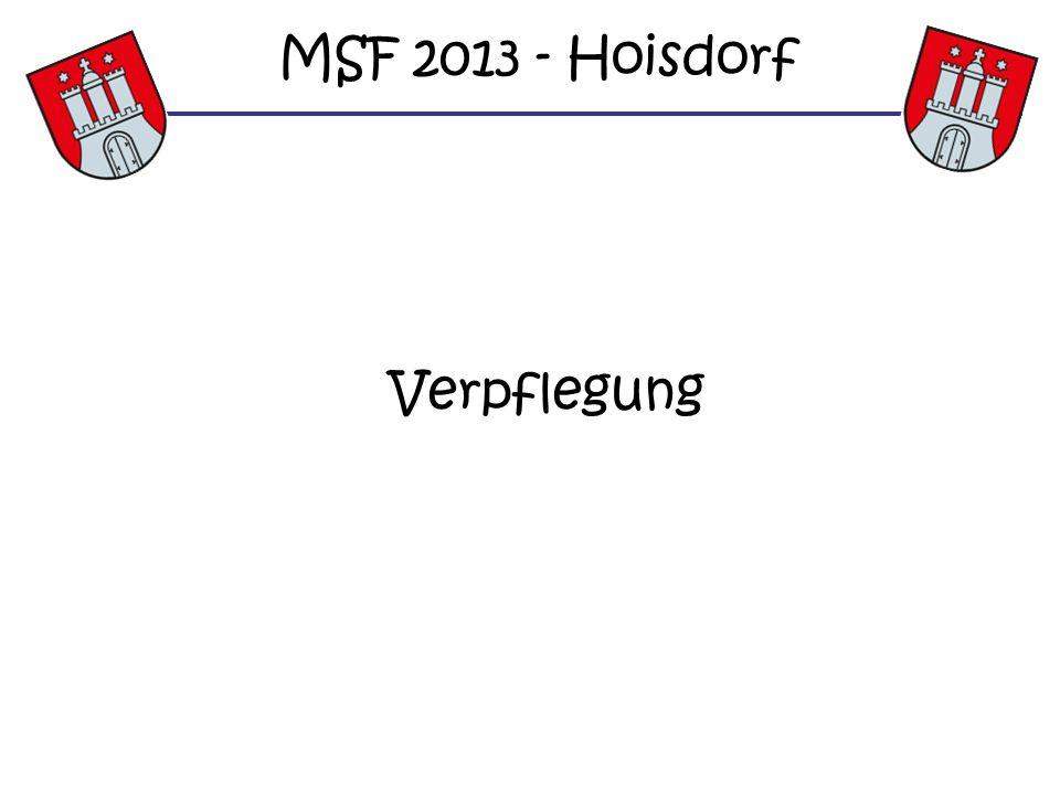 Verpflegung MSF 2013 - Hoisdorf