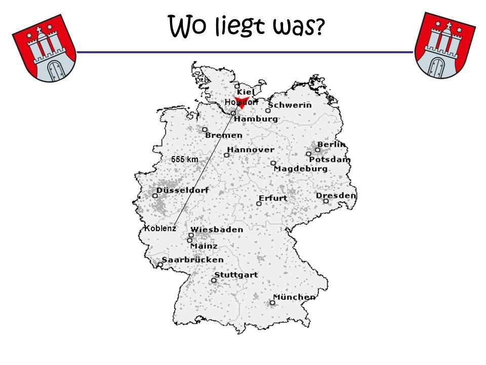 Wo liegt was? Koblenz Hoisdorf 555 km