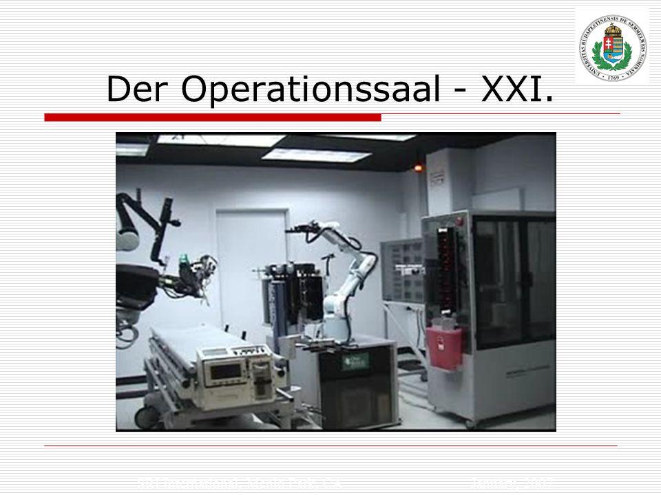 SRI International, Menlo Park, CA January, 2007 Der Operationssaal - XXI.
