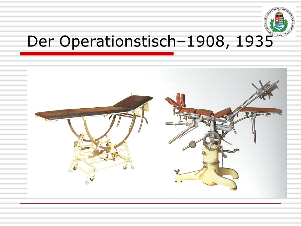 Der Operationstisch–1908, 1935