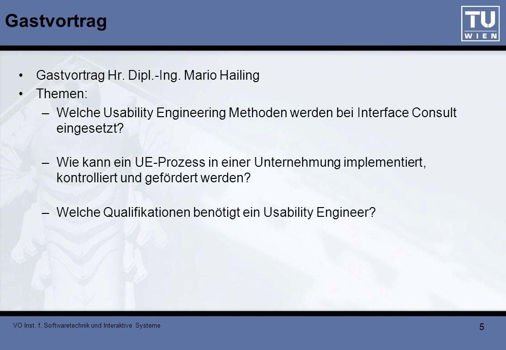 VO Inst.f. Softwaretechnik und Interaktive Systeme 6 PlanningLines Experiment PlanningLines vs.