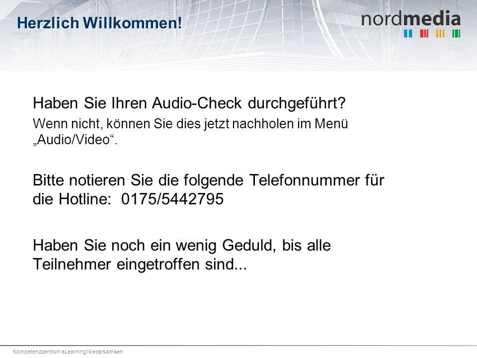 Kompetenzzentrum eLearning Niedersachsen Herzlich Willkommen.