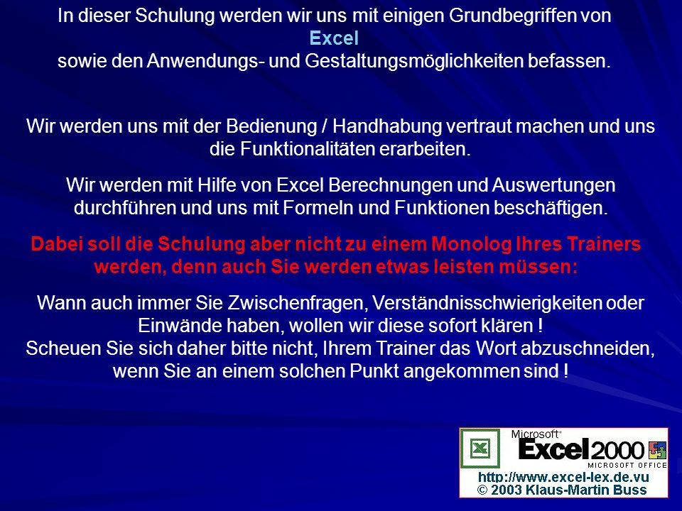 Zunächst aber ein wenig Theorie: Was ist Excel überhaupt und wofür kann ich es einsetzen.