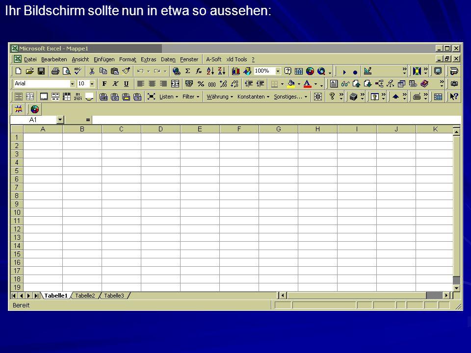 Eine weitere Möglichkeit, das Funktionen-Menü aufzurufen, besteht darin, in der Bearbeitungsleiste auf das Gleichheitszeichen = zu klicken...