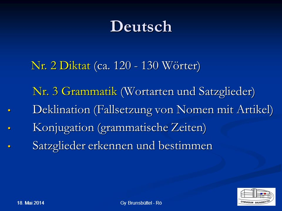 Deutsch Nr. 3 Grammatik (Wortarten und Satzglieder) Deklination (Fallsetzung von Nomen mit Artikel) Deklination (Fallsetzung von Nomen mit Artikel) Ko