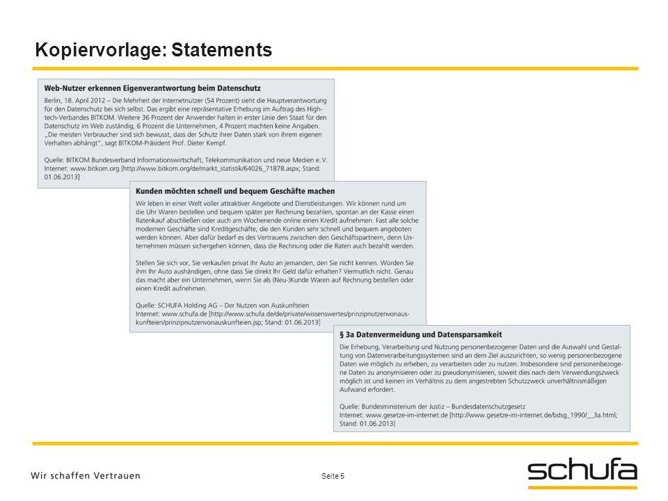Kopiervorlage: Statements Seite 5