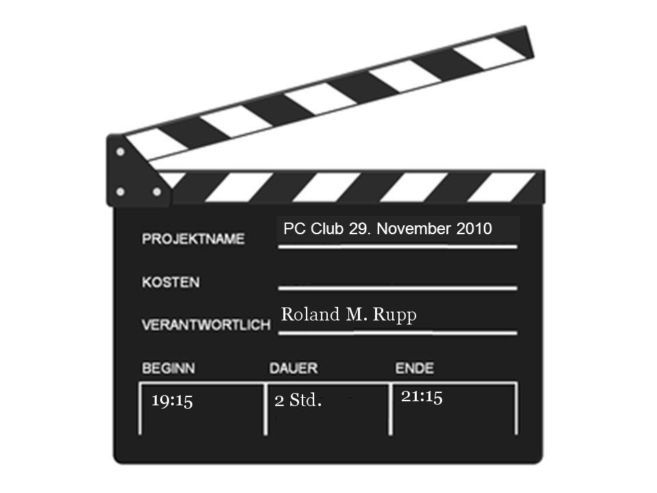 Nächster Treff Der nächste PC Club findet wieder statt am 13. Dezember 2010