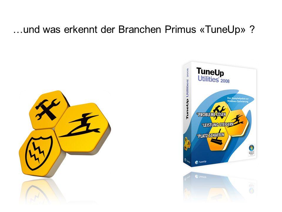 …und was erkennt der Branchen Primus «TuneUp» ?