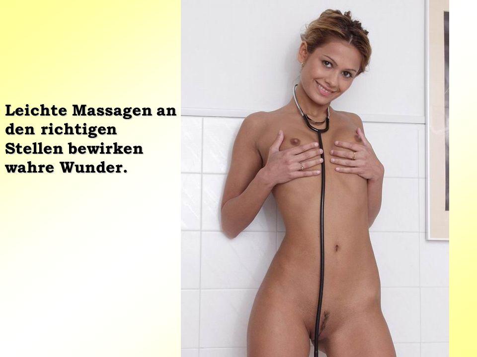 Leichte Massagen an den richtigen Stellen bewirken wahre Wunder.