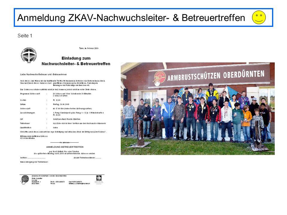 Anmeldung ZKAV-Nachwuchsleiter- & Betreuertreffen Seite 1