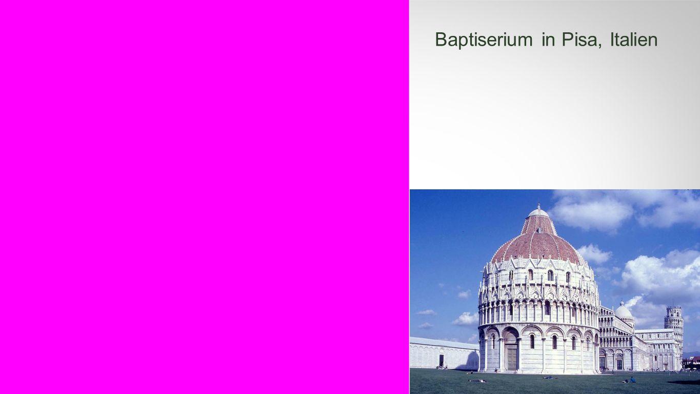 Seiteneinblender Baptiserium in Pisa, Italien