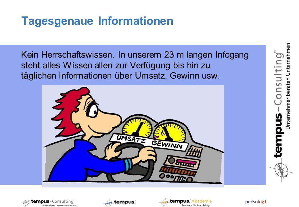 Tagesgenaue Informationen Kein Herrschaftswissen.