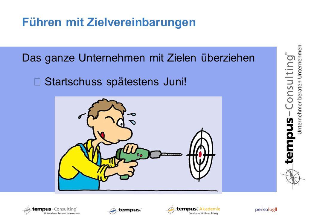Führen mit Zielvereinbarungen Das ganze Unternehmen mit Zielen überziehen Startschuss spätestens Juni!