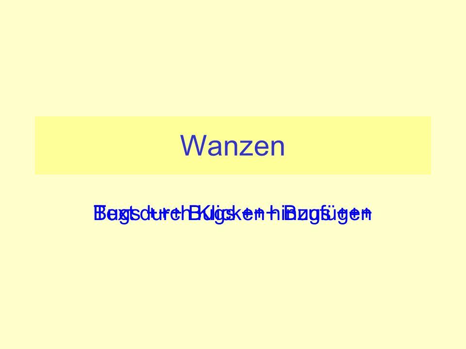 Text durch Klicken hinzufügen Wanzen Bugs +++ Bugs +++ Bugs +++