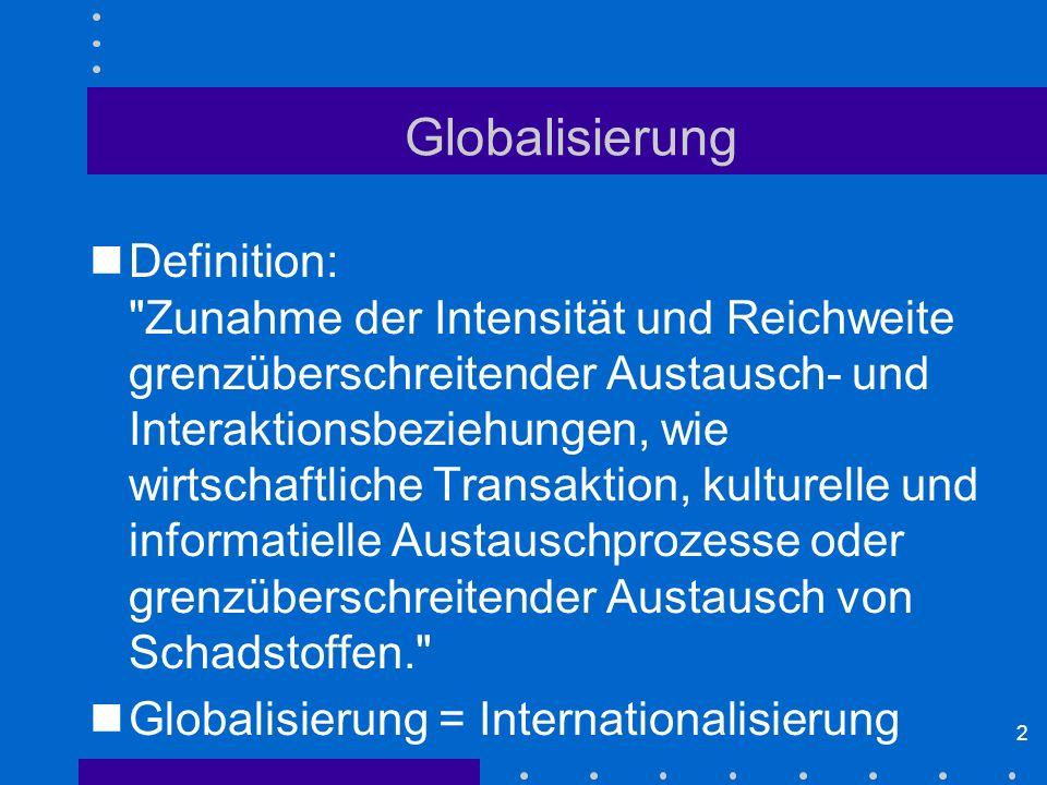 2 Globalisierung Definition:
