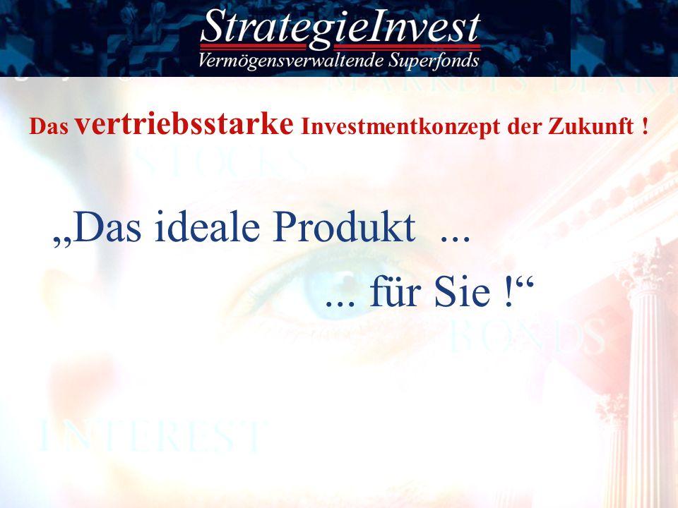 Das ideale Produkt...... für Sie ! Das vertriebsstarke Investmentkonzept der Zukunft !