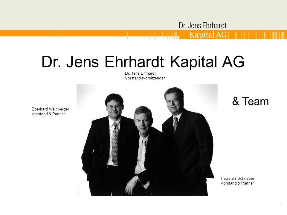 Dr. Jens Ehrhardt Kapital AG Dr. Jens Ehrhardt Vorstandsvorsitzender Eberhard Weinberger Vorstand & Partner Thorsten Schrieber Vorstand & Partner & Te