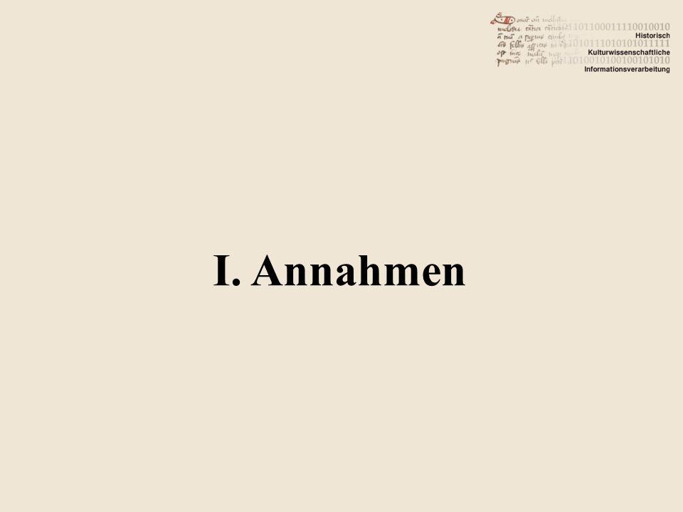 I. Annahmen