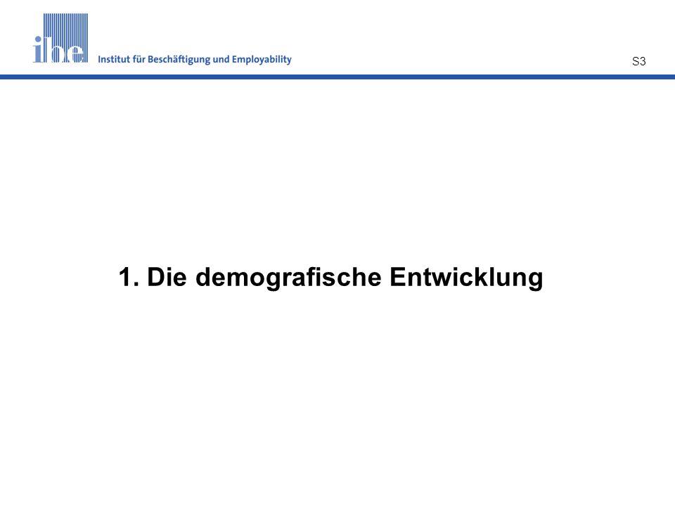 S3 1. Die demografische Entwicklung