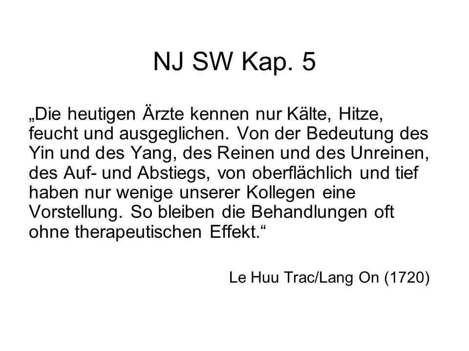 NJ SW Kap. 1 Es ist leicht über Akupunktur zu sprechen, aber schwieriger, sie zu praktizieren.