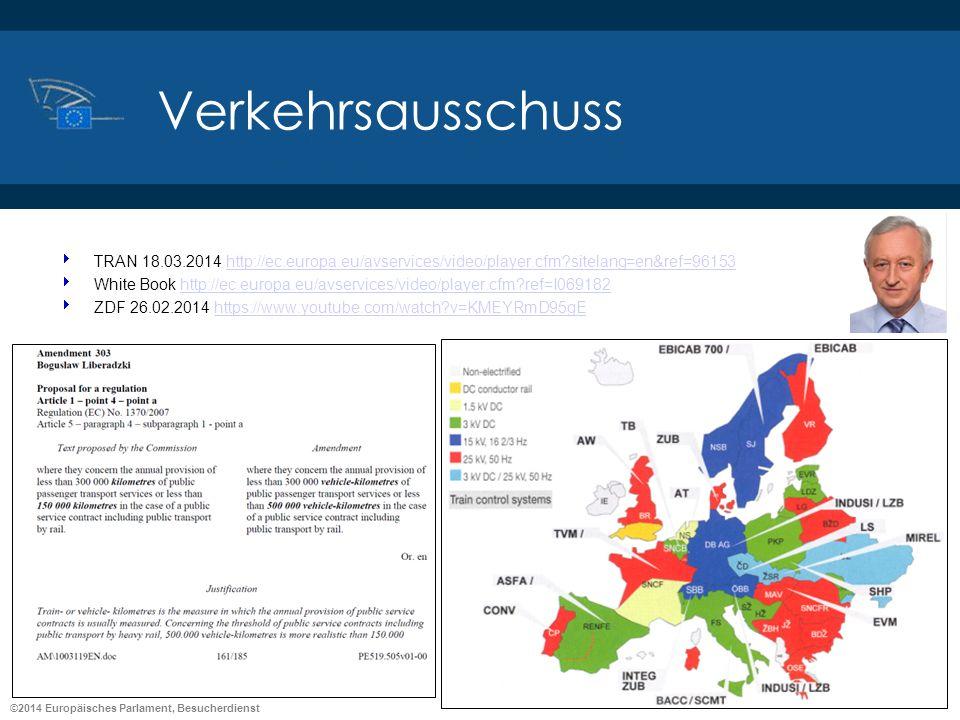 ©2014 Europäisches Parlament, Besucherdienst Verkehrsausschuss TRAN 18.03.2014 http://ec.europa.eu/avservices/video/player.cfm?sitelang=en&ref=96153ht