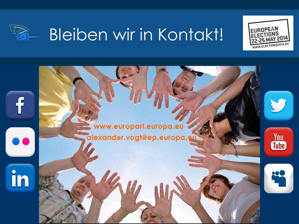 ©2014 Europäisches Parlament, Besucherdienst Bleiben wir in Kontakt! www.europarl.europa.eu alexander.vogt@ep.europa.eu