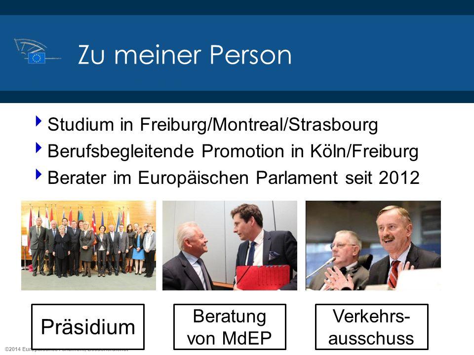 ©2014 Europäisches Parlament, Besucherdienst Zu meiner Person Studium in Freiburg/Montreal/Strasbourg Berufsbegleitende Promotion in Köln/Freiburg Ber