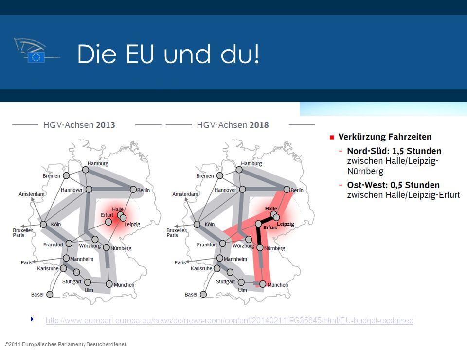©2014 Europäisches Parlament, Besucherdienst Die EU und du! Wie denken Sie über die EU? Belgien: http://www.youtube.com/watch?v=Ceg6NQKHd70http://www.