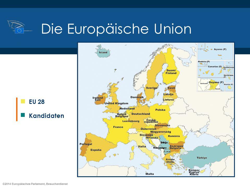 ©2014 Europäisches Parlament, Besucherdienst Die Europäische Union EU 28 Kandidaten