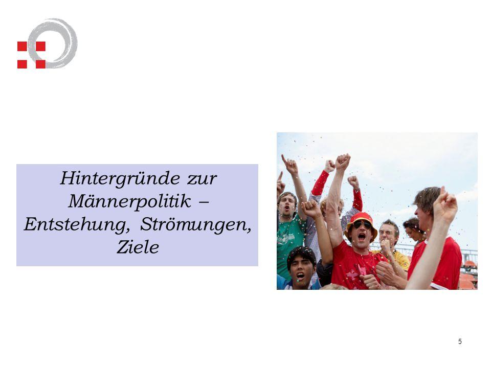 66 Zusammenfassung der aktuellen Situation - Die großen deutschen Männerstudien – Gefahren: Es entsteht ein Geschlechter- kampf von rechts (Politik) Das Thema Gewalt ist noch immer männlich (Täter und Opfer) Der Leistungsdruck erhöht sich für Männer in Beruf und Familie (Gesundheit).