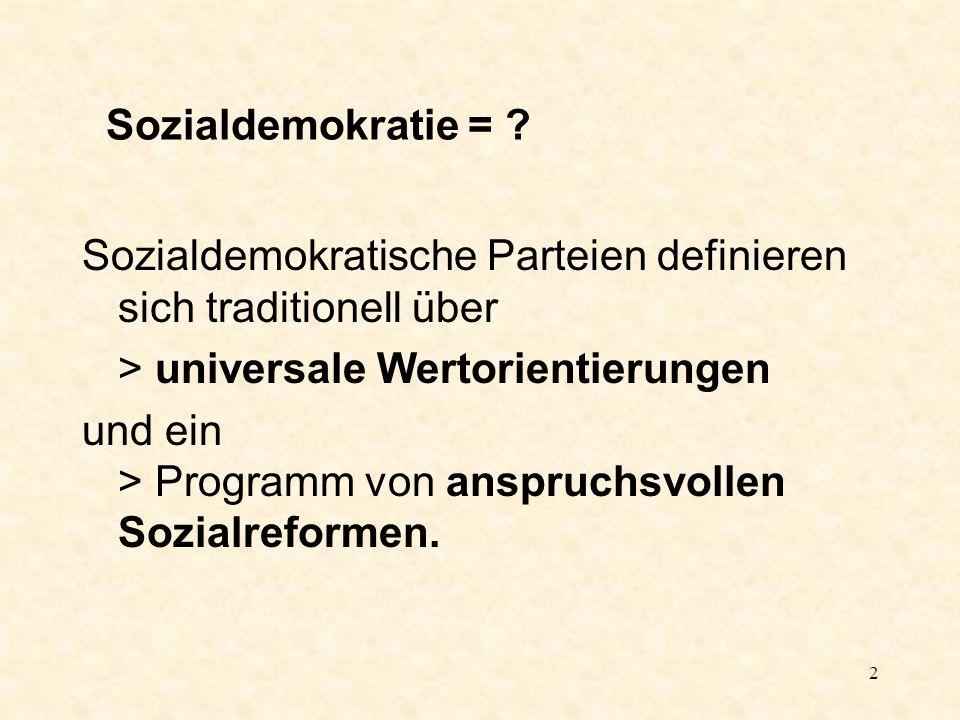 2 Sozialdemokratie = .