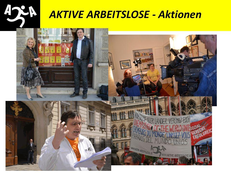 AIVG Novelle > verschlechtert AKTIVE ARBEITSLOSE - Aktionen * Aktionen anderer Organisationen mittragen * E-Mail-Aktionen * Presseaussendung, Artikel