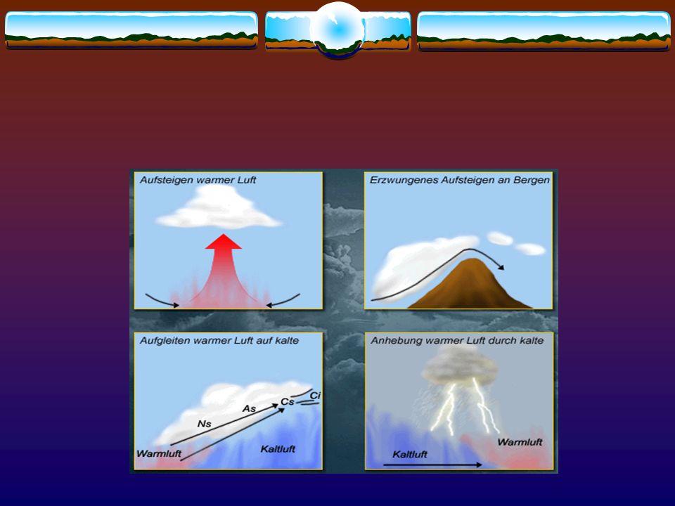 adiabatische Abkühlung labile und stabile Schichtung