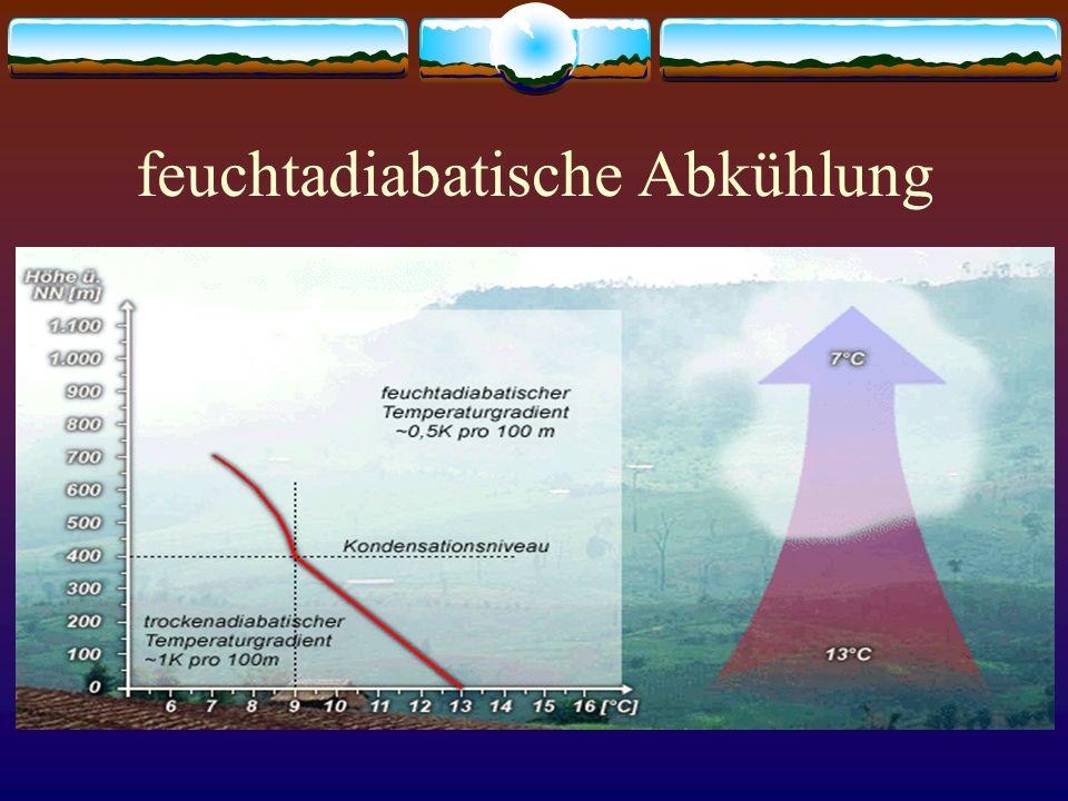 Luftfeuchtigkeit absolute Luftfeuchte: Menge des Wasserdampfes in der Luft relative Luftfeuchte: Verhältnis von vorhandener LF zu maximal möglicher LF ist die relative LF 100%, dann ist der Taupunkt erreichtTaupunkt