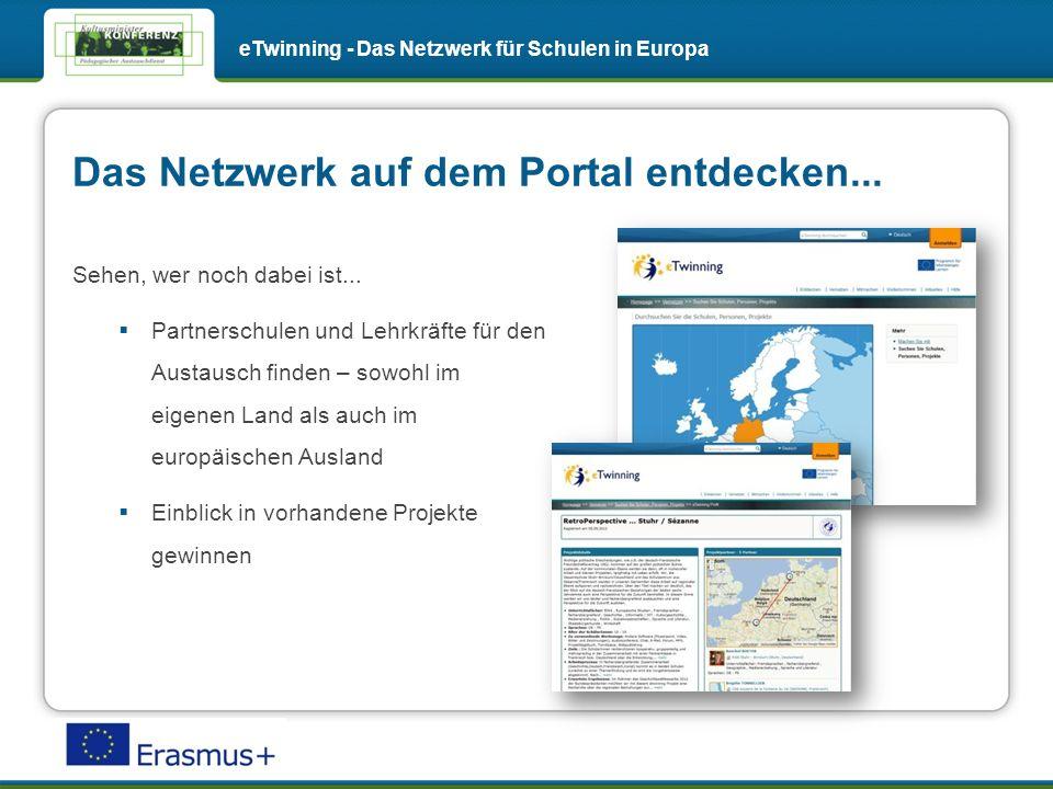Das Netzwerk auf dem Portal entdecken... Sehen, wer noch dabei ist...