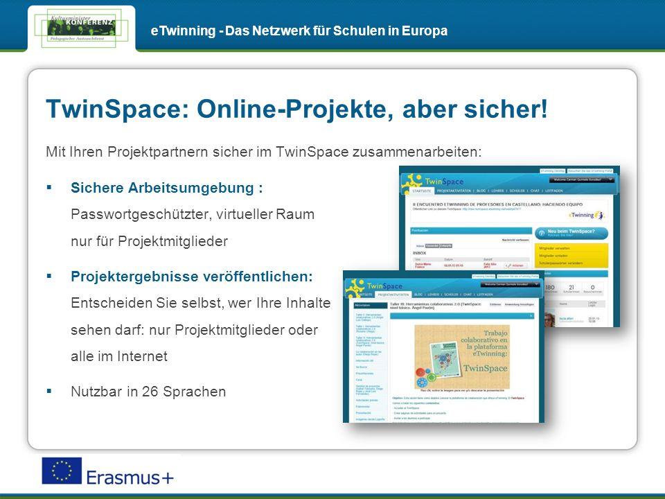 TwinSpace: Online-Projekte, aber sicher.