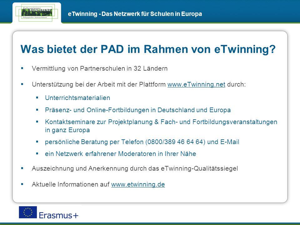 Was bietet der PAD im Rahmen von eTwinning.