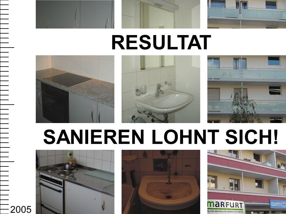 SANIEREN LOHNT SICH! RESULTAT 2005