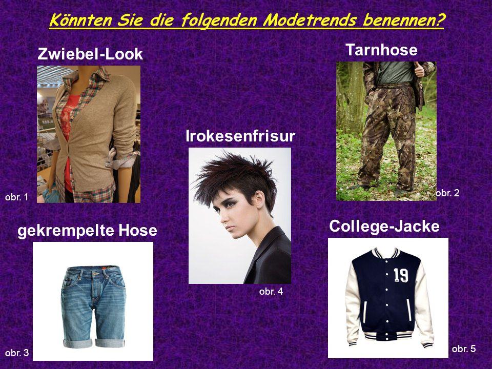 Könnten Sie die folgenden Modetrends benennen.