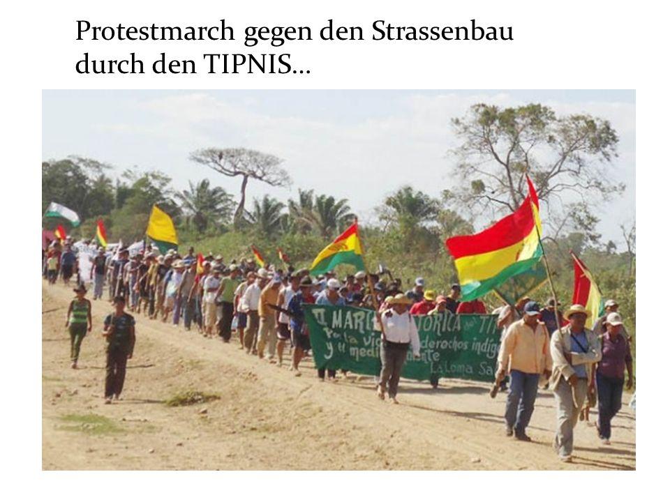 Protestmarch gegen den Strassenbau durch den TIPNIS…
