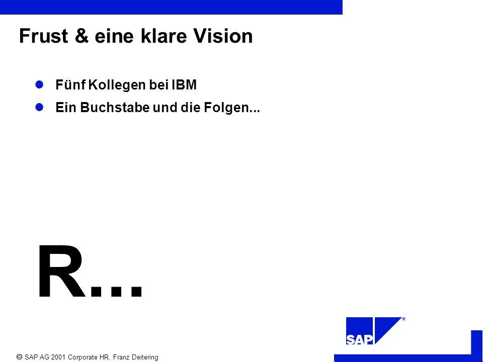 R SAP AG 2001 Corporate HR, Franz Deitering Frust & eine klare Vision Fünf Kollegen bei IBM Ein Buchstabe und die Folgen...