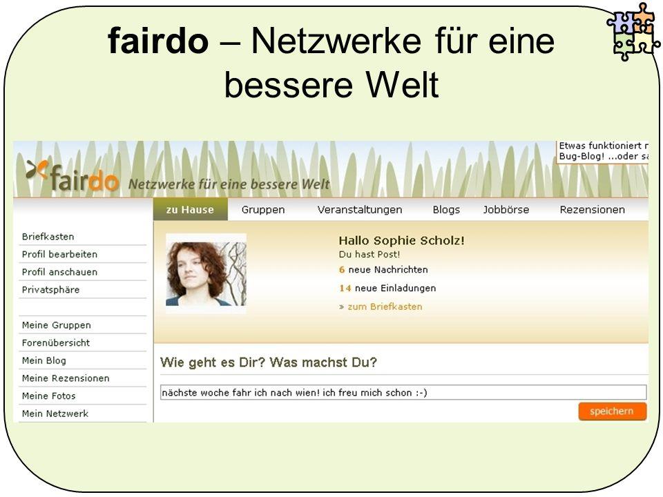 fairdo – Netzwerke für eine bessere Welt