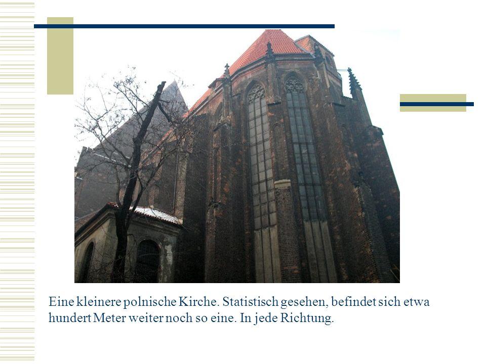 Eine kleinere polnische Kirche.