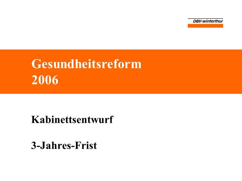 Kabinettsentwurf 3-Jahres-Frist Gesundheitsreform 2006