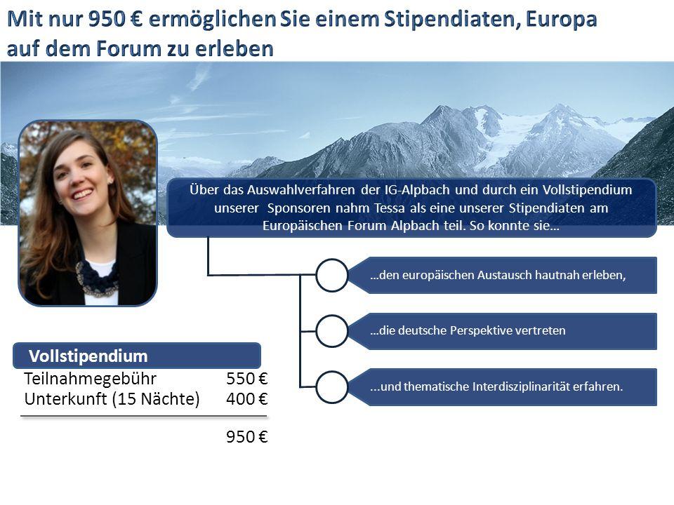Über das Auswahlverfahren der IG-Alpbach und durch ein Vollstipendium unserer Sponsoren nahm Tessa als eine unserer Stipendiaten am Europäischen Forum Alpbach teil.