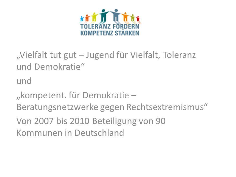 Vielfalt tut gut – Jugend für Vielfalt, Toleranz und Demokratie und kompetent.