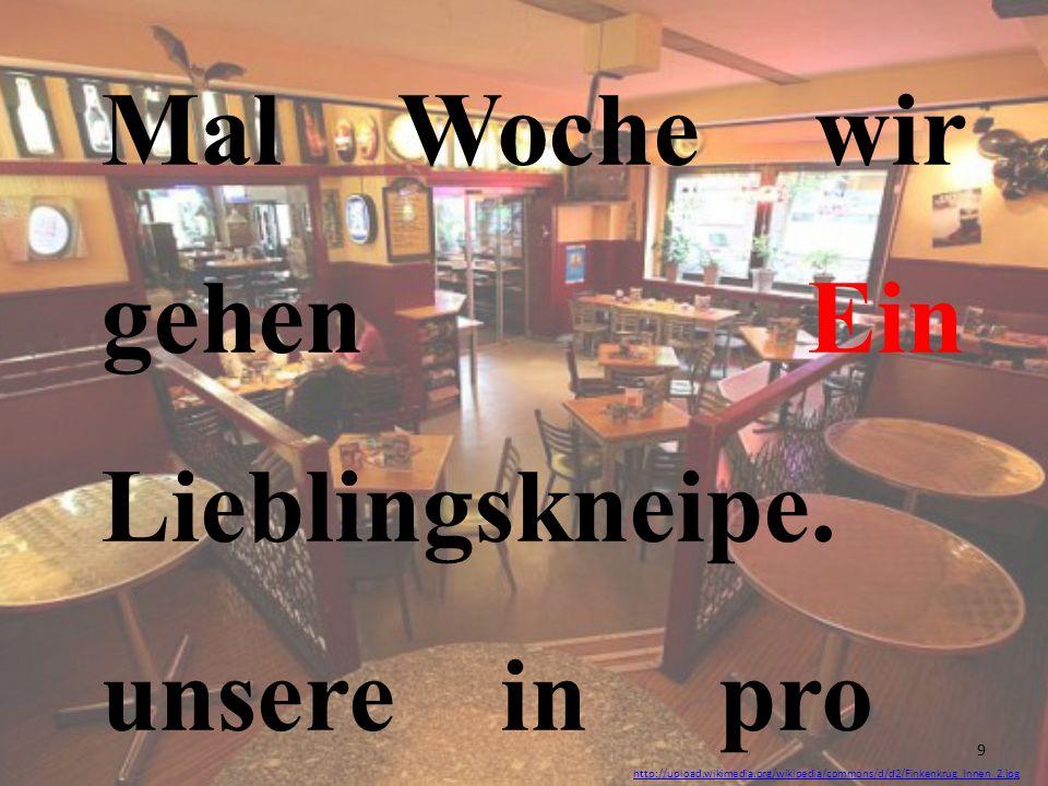 http://upload.wikimedia.org/wikipedia/commons/d/d2/Finkenkrug_Innen_2.jpg Mal Woche wir gehen Ein Lieblingskneipe. unsere in pro 9